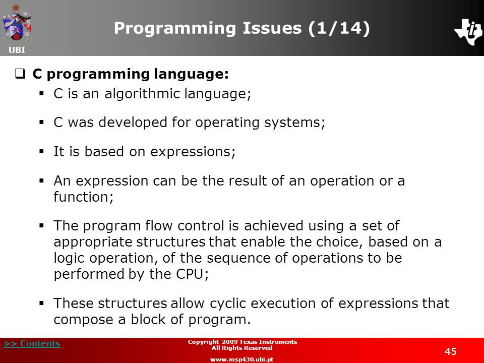 Programming Issues (1/14)