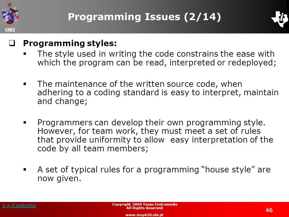 Programming Issues (2/14)