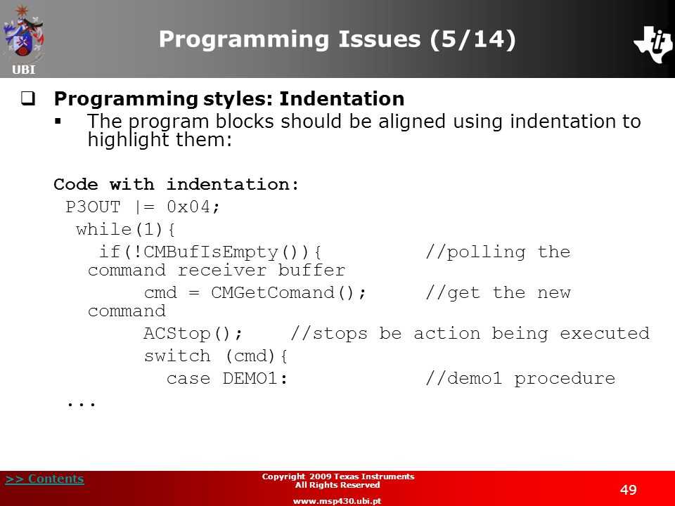 Programming Issues (5/14)