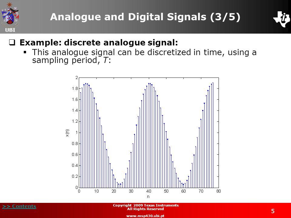 Analogue and Digital Signals (3/5)
