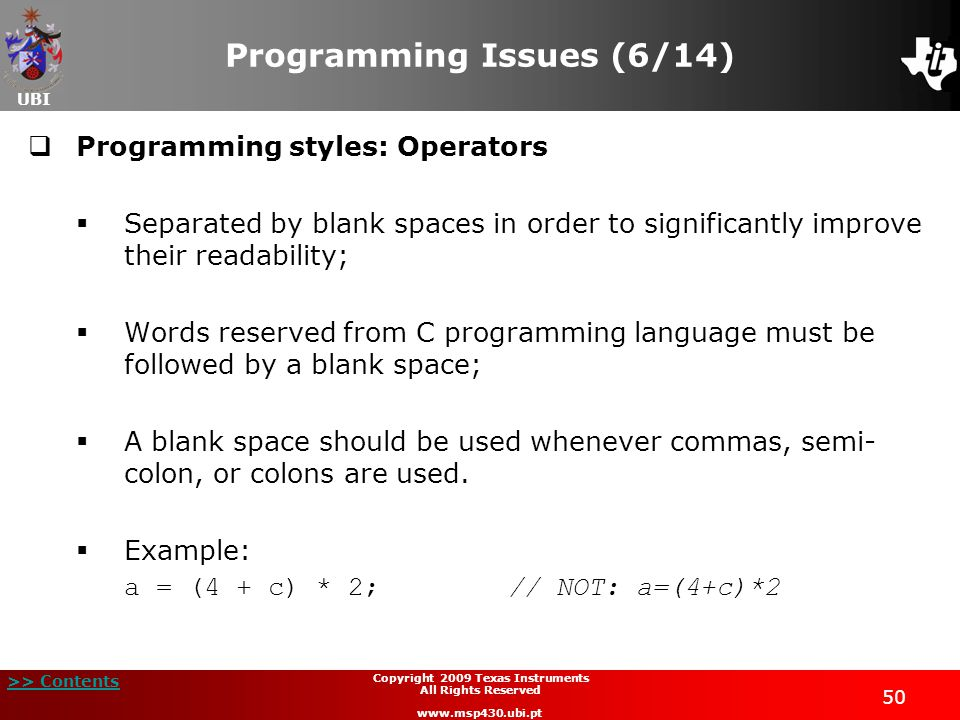 Programming Issues (6/14)