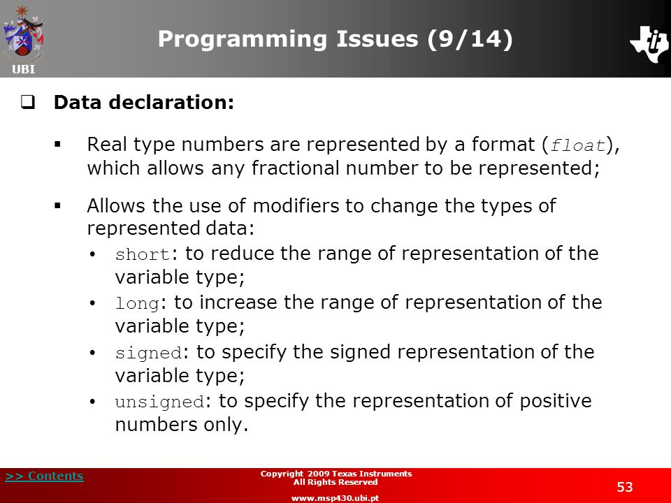Programming Issues (9/14)