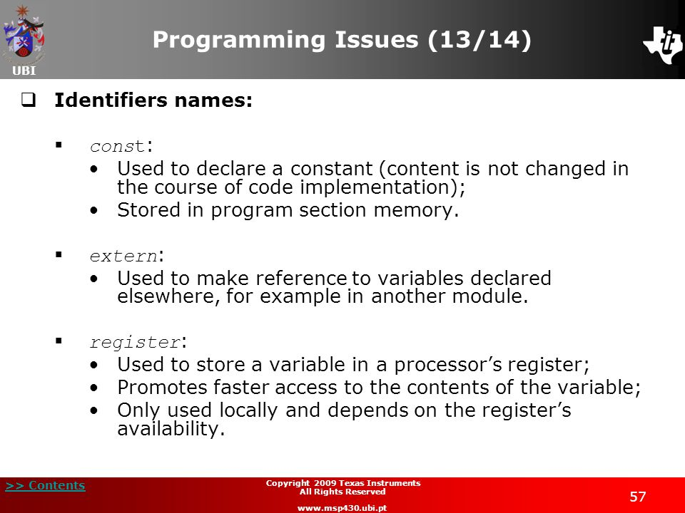 Programming Issues (13/14)