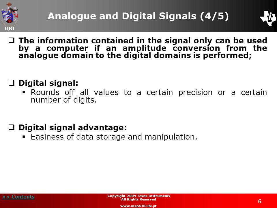 Analogue and Digital Signals (4/5)