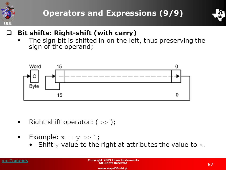 Operators and Expressions (9/9)