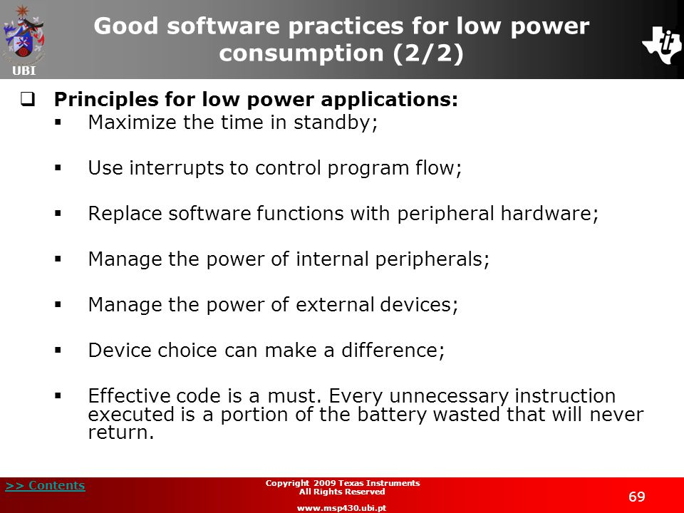 Good software practices for low power consumption (2/2)