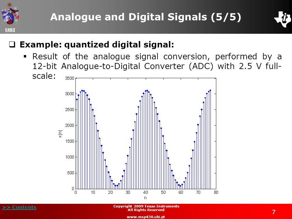 Analogue and Digital Signals (5/5)