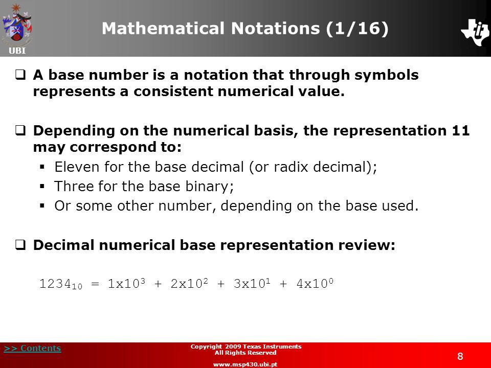 Mathematical Notations (1/16)