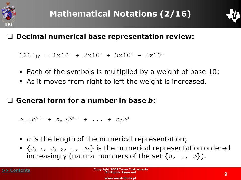 Mathematical Notations (2/16)