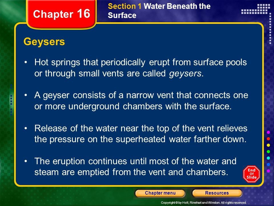 Section 1 Water Beneath the Surface