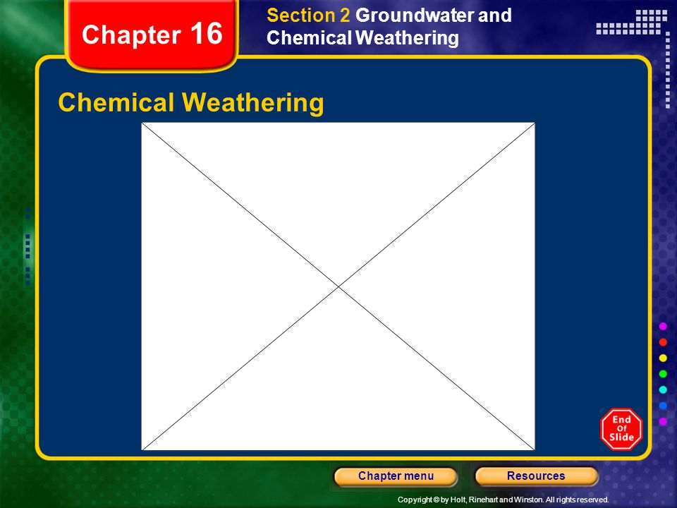Chapter 16 Chemical Weathering