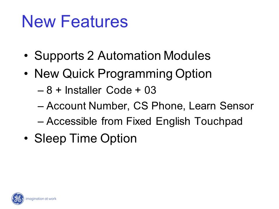 New Features Supports 2 Automation Modules