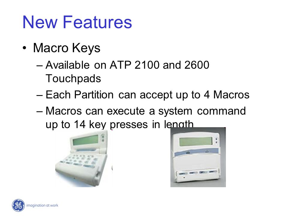 New Features Macro Keys Available on ATP 2100 and 2600 Touchpads