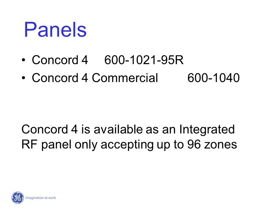 Panels Concord 4 600-1021-95R Concord 4 Commercial 600-1040