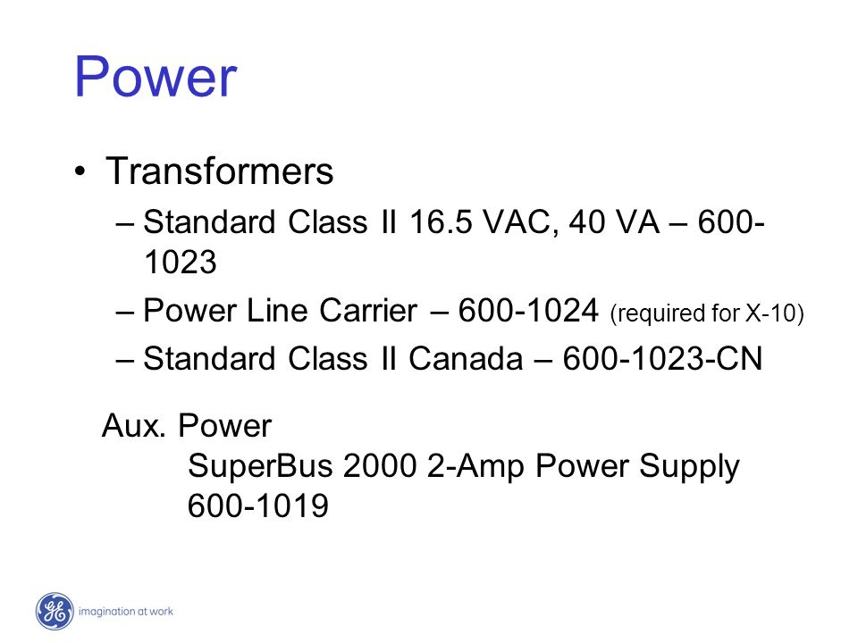 Power Transformers Standard Class II 16.5 VAC, 40 VA – 600-1023