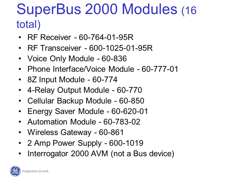 SuperBus 2000 Modules (16 total)