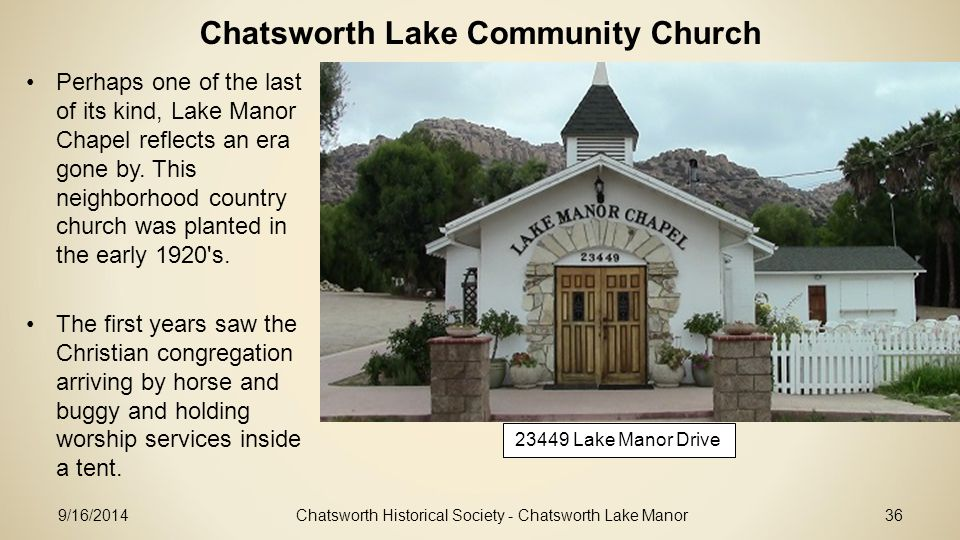 Chatsworth Lake Community Church
