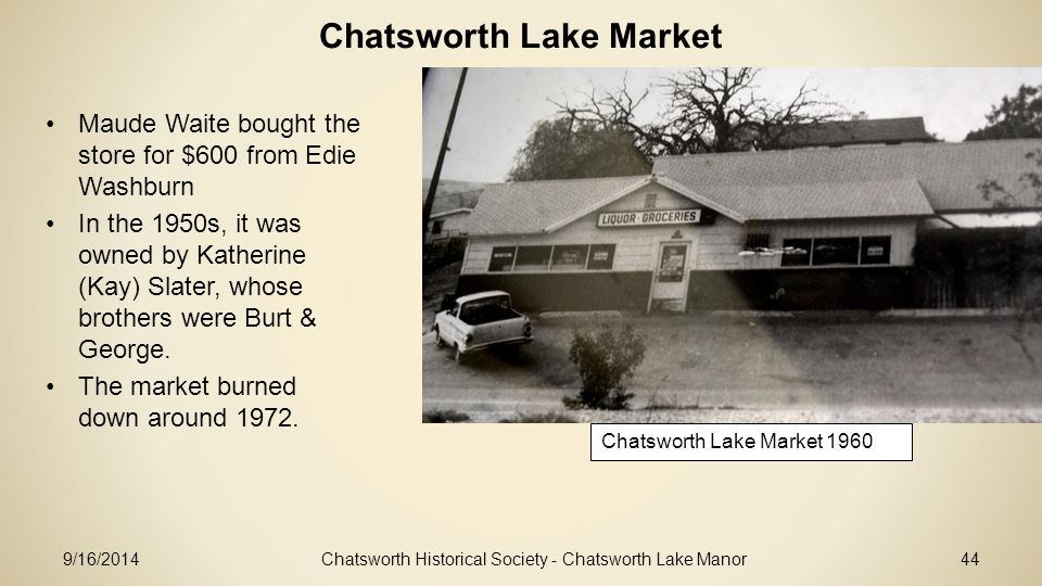 Chatsworth Lake Market