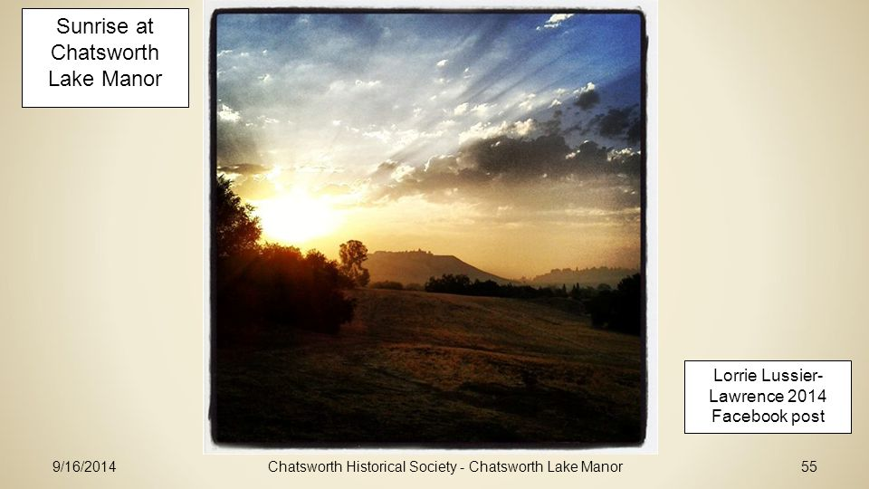 Sunrise at Chatsworth Lake Manor