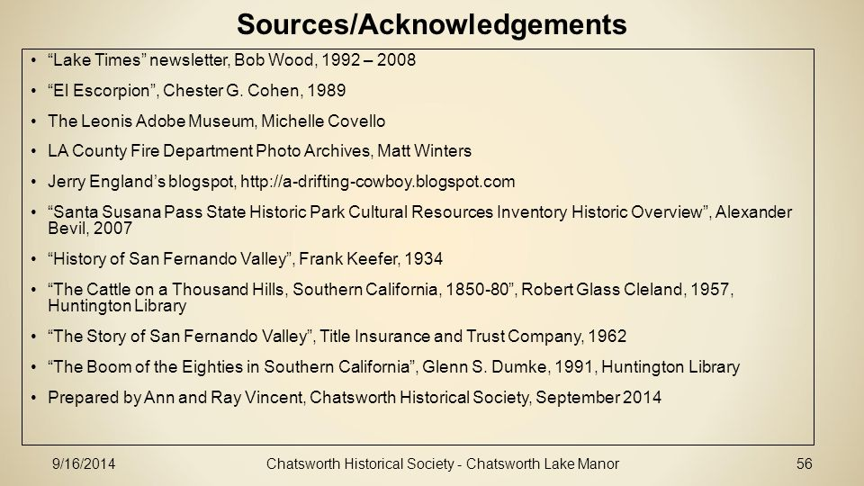 Sources/Acknowledgements