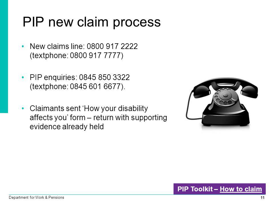 PIP Toolkit – How to claim