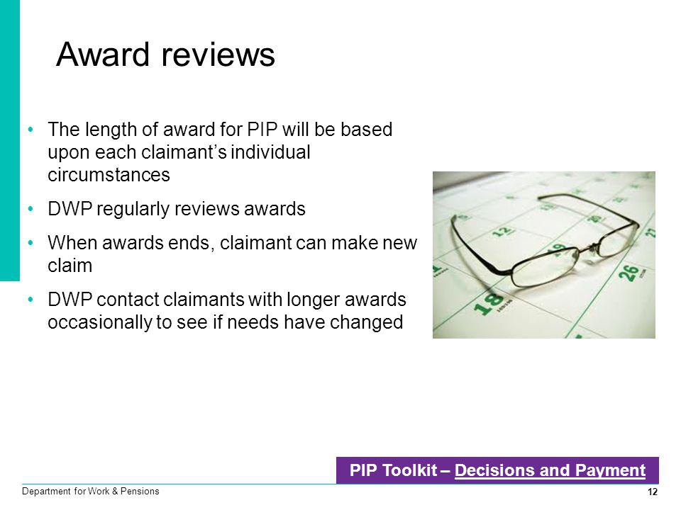 PIP Toolkit – Decisions and Payment