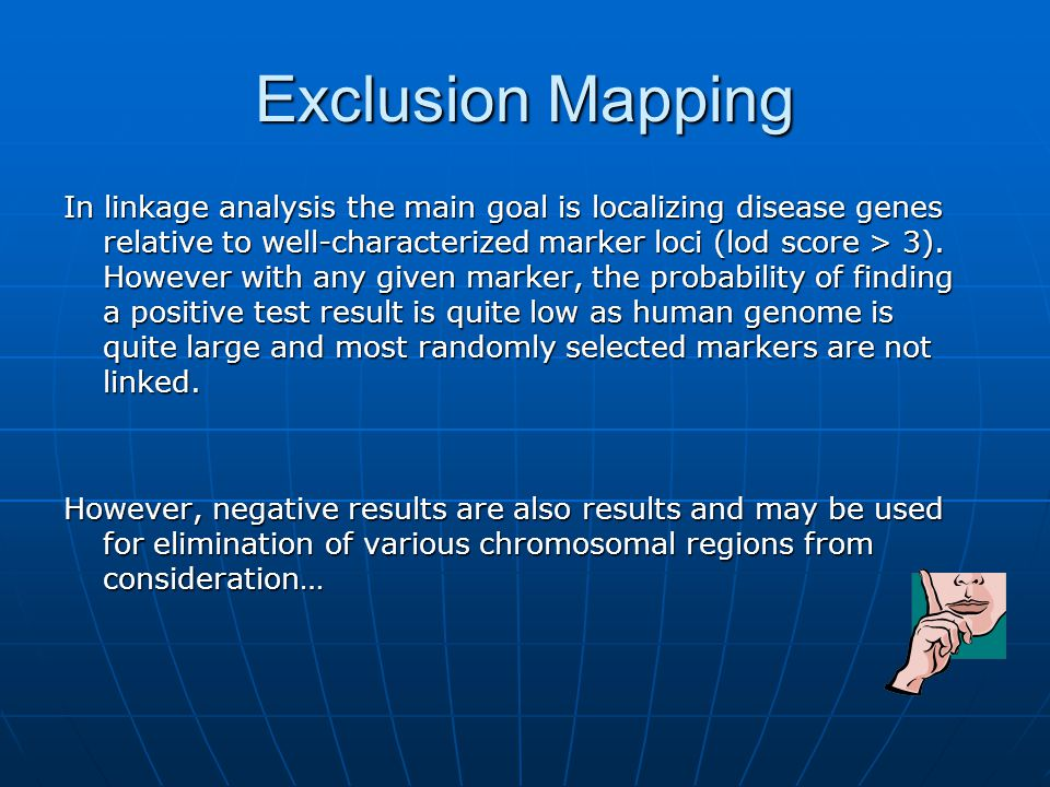 Exclusion Mapping