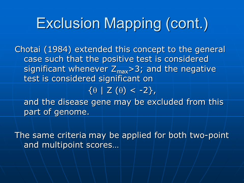 Exclusion Mapping (cont.)