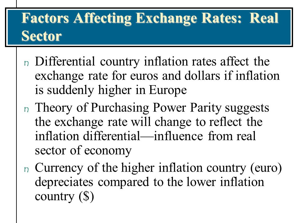 Factors Affecting Exchange Rates: Real Sector