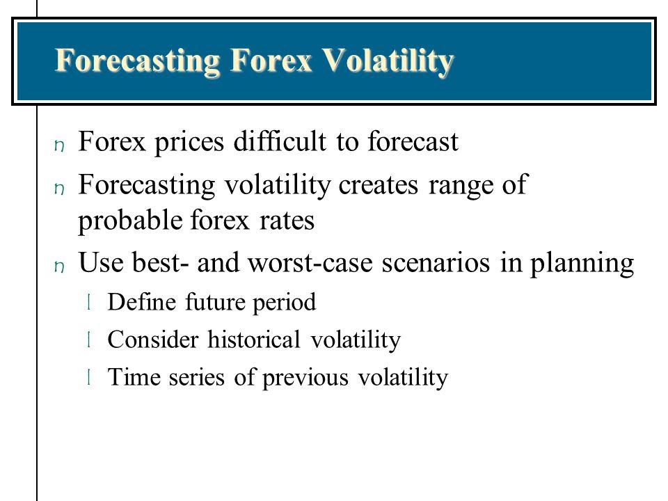 Forecasting Forex Volatility