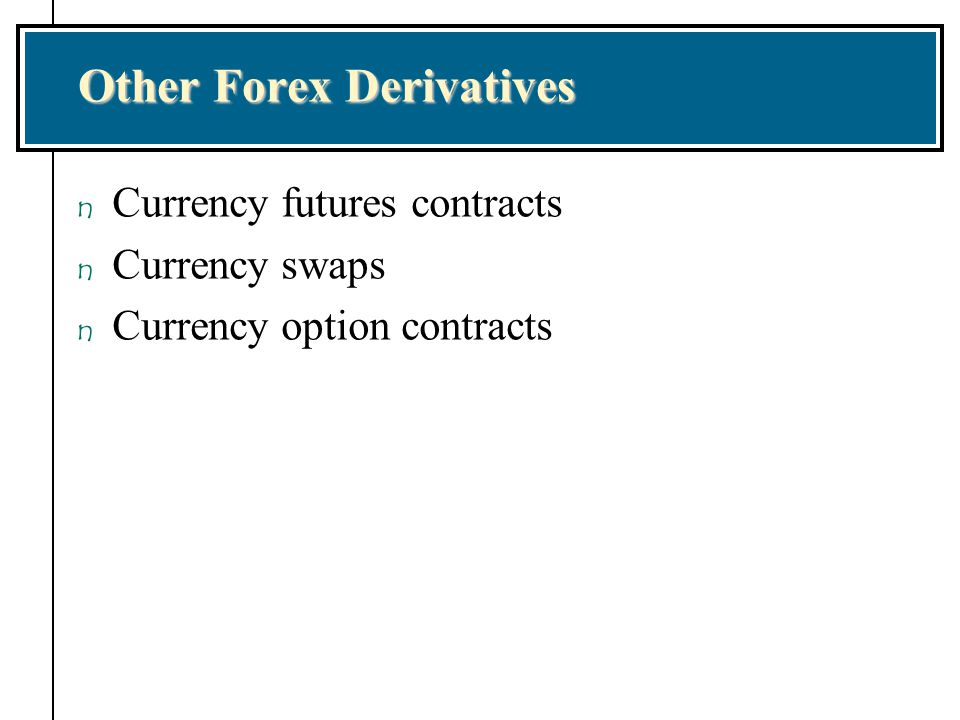 Other Forex Derivatives