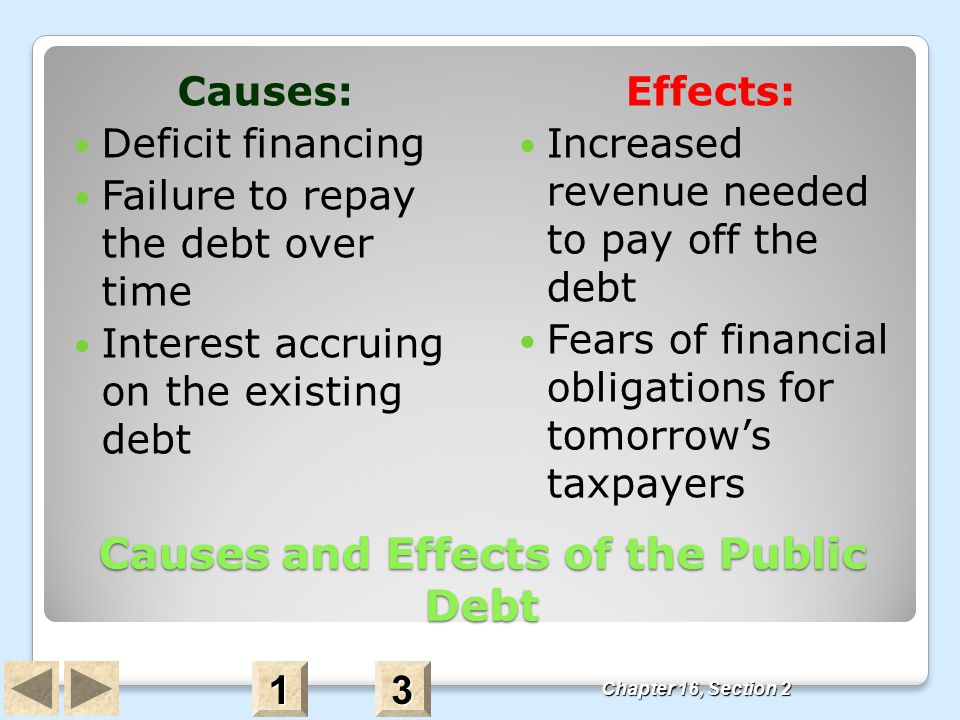 Causes and Effects of the Public Debt