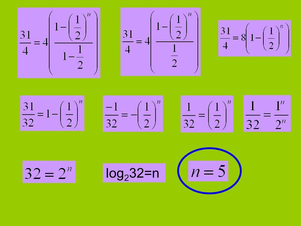 log232=n