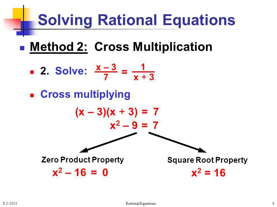 Solving Rational Equations