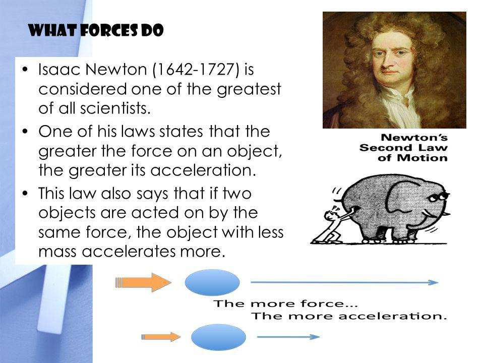 What forces do Isaac Newton (1642-1727) is considered one of the greatest of all scientists.