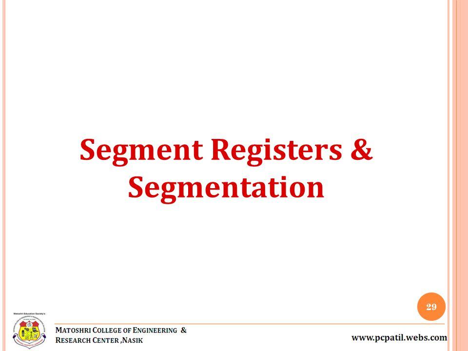 Segment Registers & Segmentation