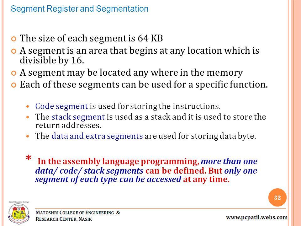 Segment Register and Segmentation