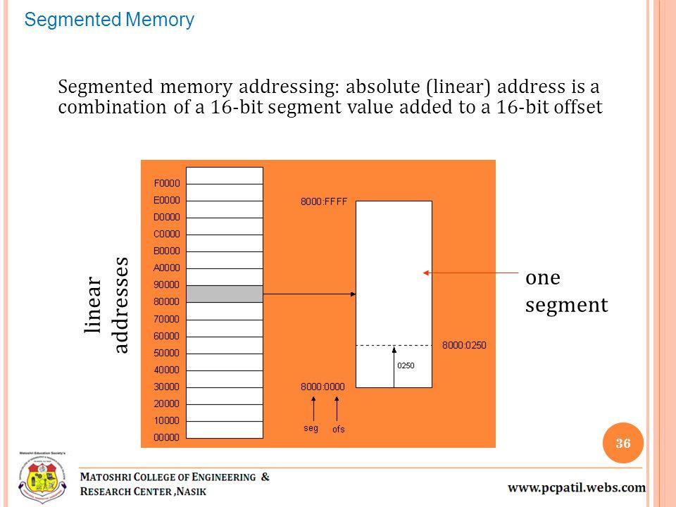 one segment linear addresses