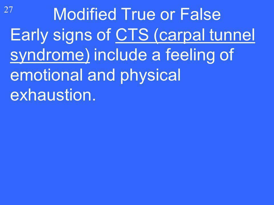 Modified True or False 27.