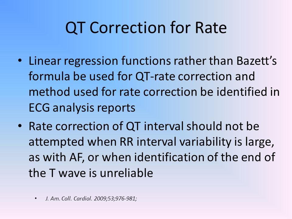 QT Correction for Rate