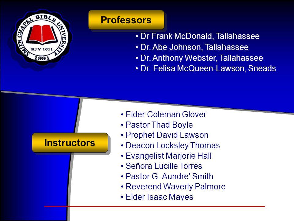 Professors Instructors