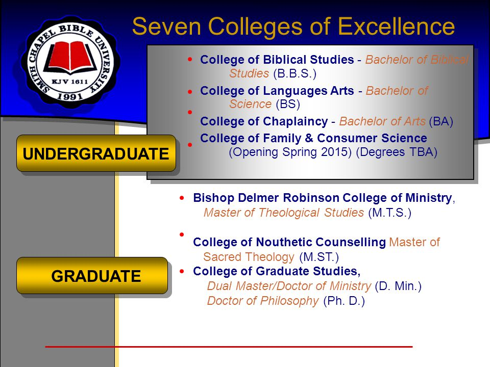 Seven Colleges of Excellence