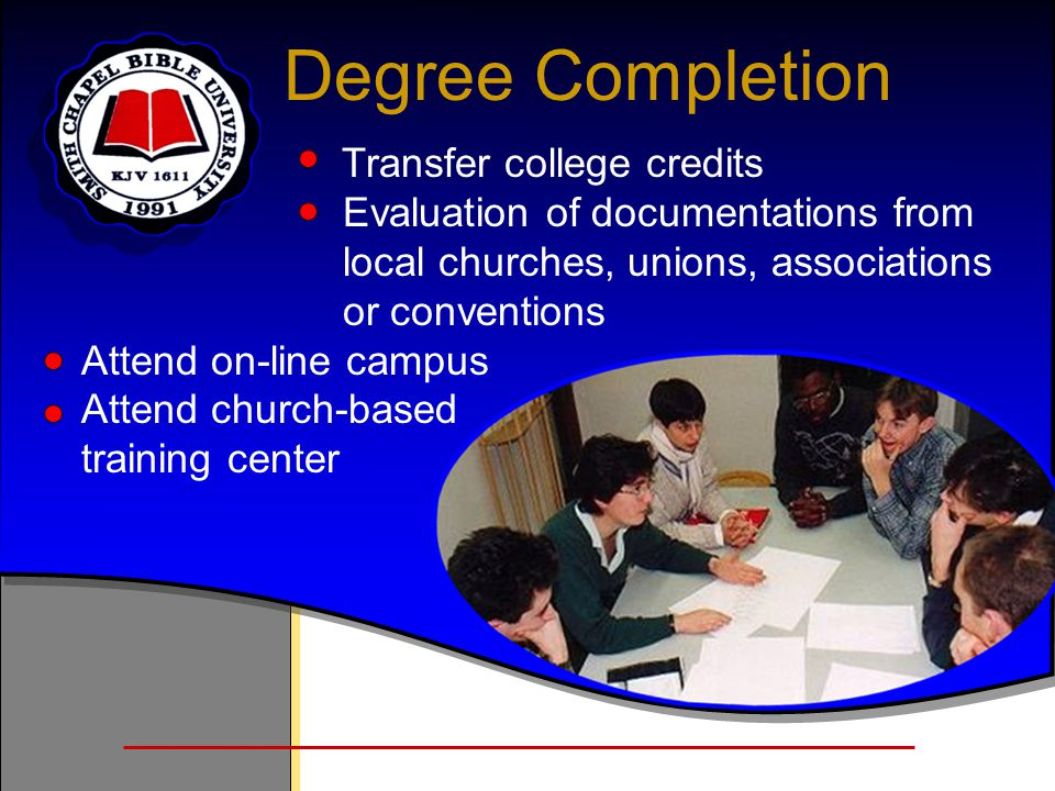 Degree Completion Transfer college credits