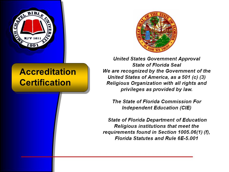 Accreditation Certification