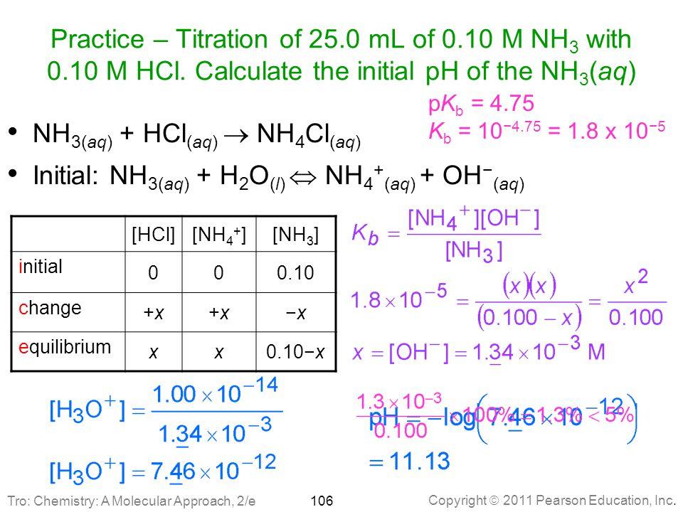 NH3(aq) + HCl(aq)  NH4Cl(aq)