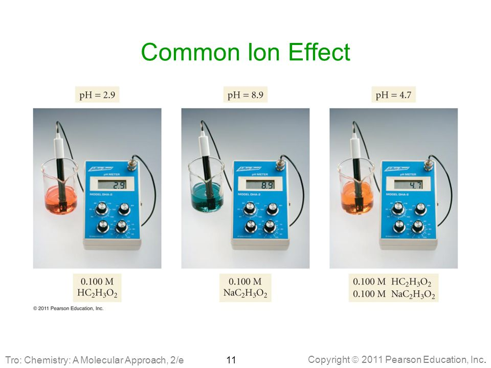 Common Ion Effect Tro: Chemistry: A Molecular Approach, 2/e