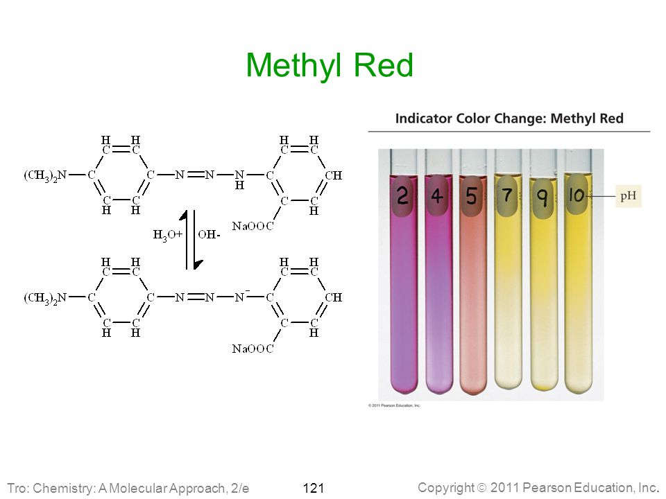 Methyl Red Tro: Chemistry: A Molecular Approach, 2/e