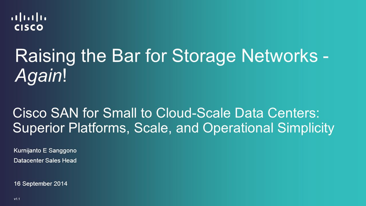 Raising the Bar for Storage Networks - Again!