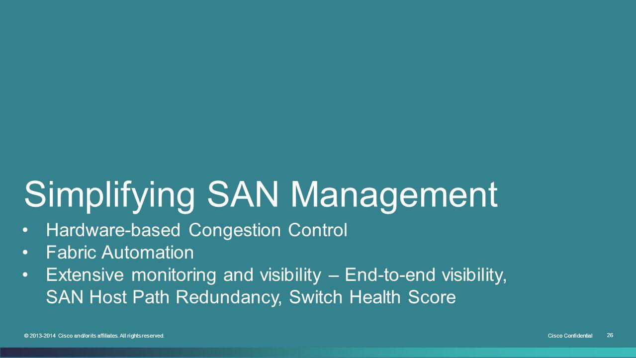 Simplifying SAN Management