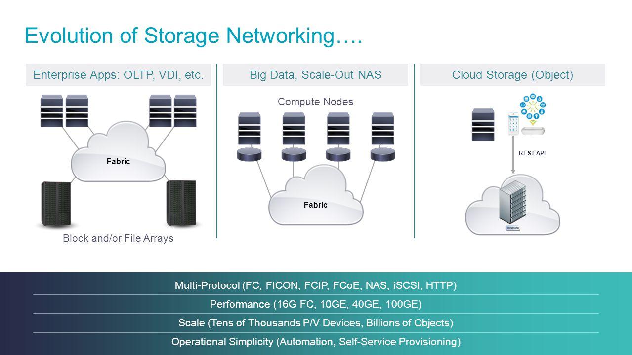 Evolution of Storage Networking….